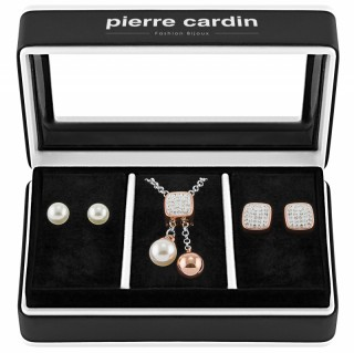Pierre Cardin Jewellery Set Necklace & Earrings PXX7405