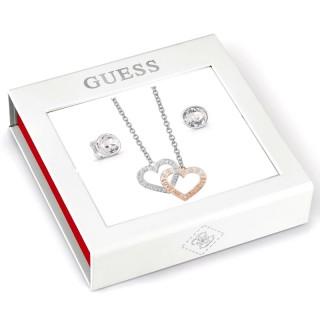 Guess Jewellery Set Necklace & Earrings GEJUBT01043
